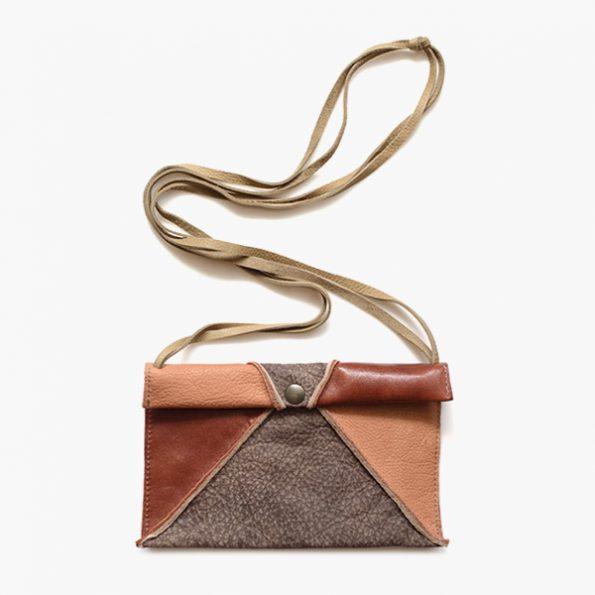 Lium Brown Grey - Jee Bags, unique handmade leather bags, unieke handgemaakte leren tassen, Janneke Peters