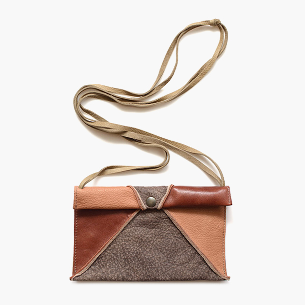 Lium Brown Grey - Jee Bags, unique handmade leather bags, unieke handgemaakte leren tassen, Janneke Peters