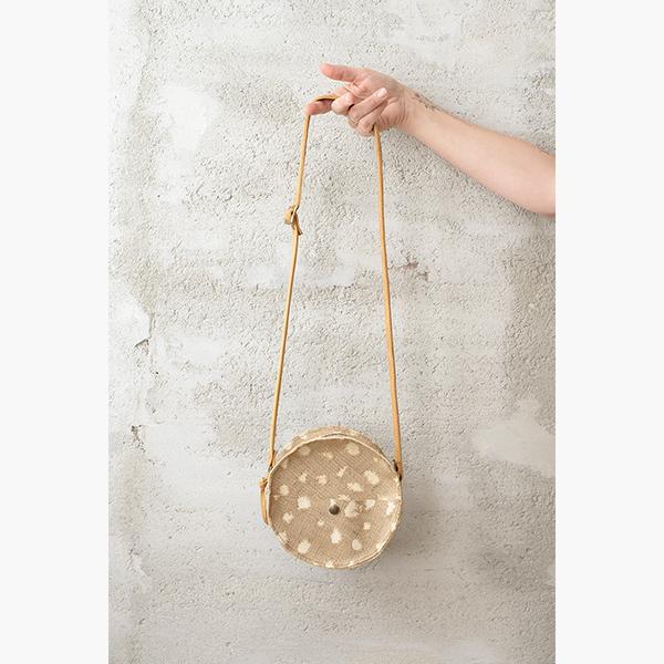 Tundi Burlap - Jee Bags, unique handmade leather bags, unieke handgemaakte leren tassen, Janneke Peters