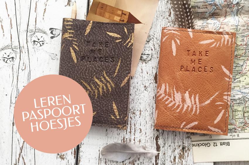 Leren Paspoort Hoesjes – Jee Bags, unique handmade leather bags, unieke handgemaakte leren tassen, Janneke Peters