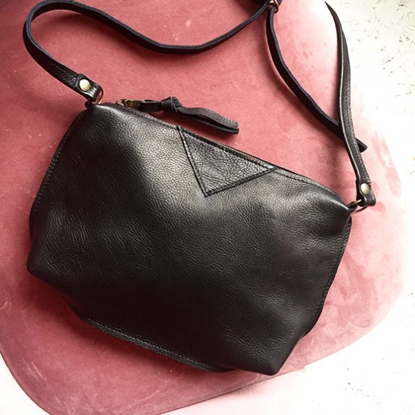 Jee Bags, black, leather, bag, SIMIA
