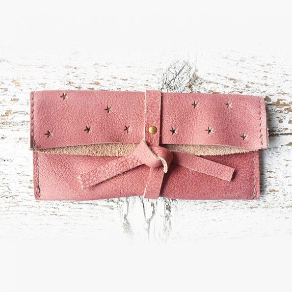 Jee Bags, leer, DIPLA, clutch, pink