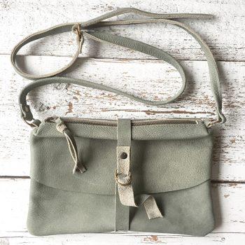 Jee Bags, leer, handtas, groen, NUM
