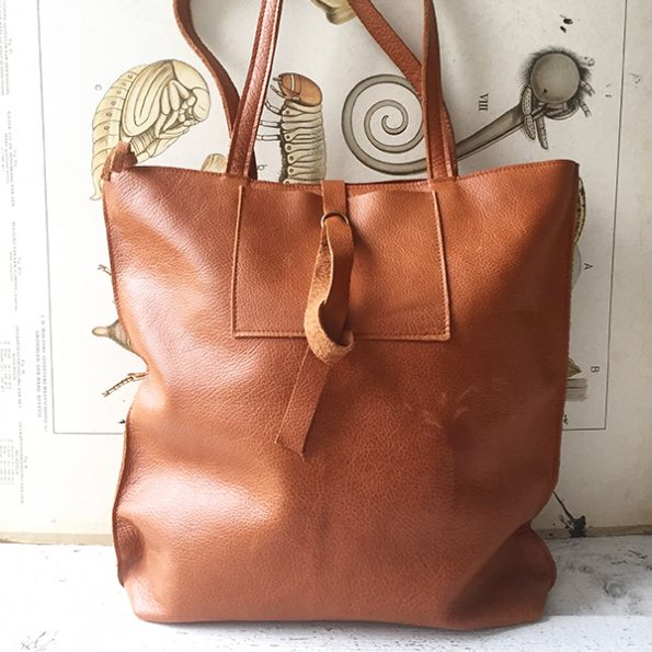 Jee Bags, cognac, leather, shopper,strum