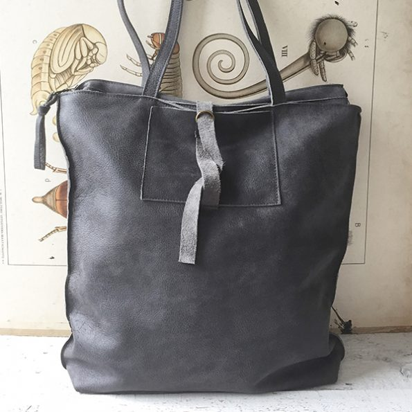 Jee Bags, grey, leather, shopper,