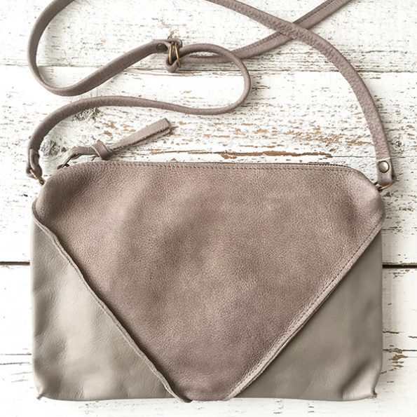 Jee Bags, leather, handbag, grey, handmade