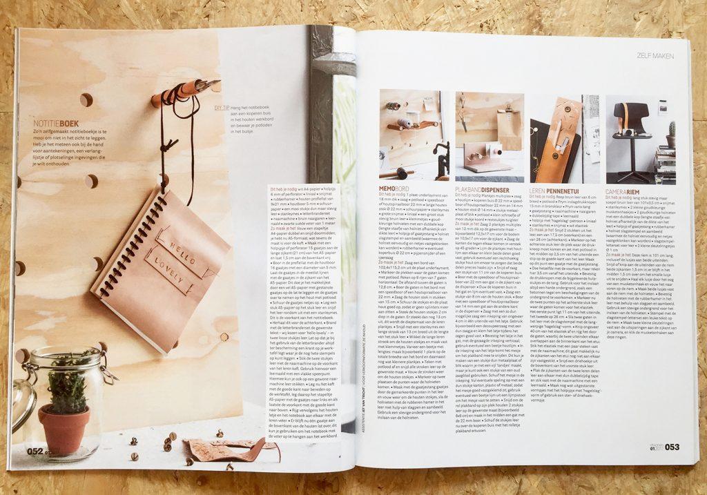VT Wonen, Janneke Peters Styling, Leer en Hout DIY