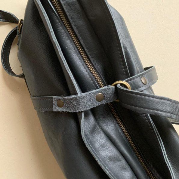Jee Bags - NIUM - handbag - darkgrey - leather - oneofakind