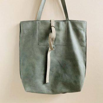 Jee Bags, greyishgreen, leather, shopper,